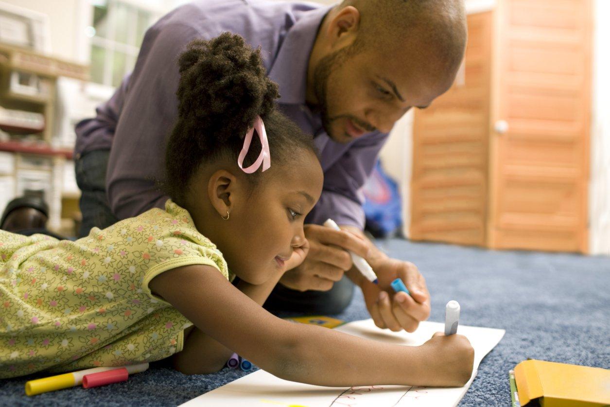 Parent teaching a Kid