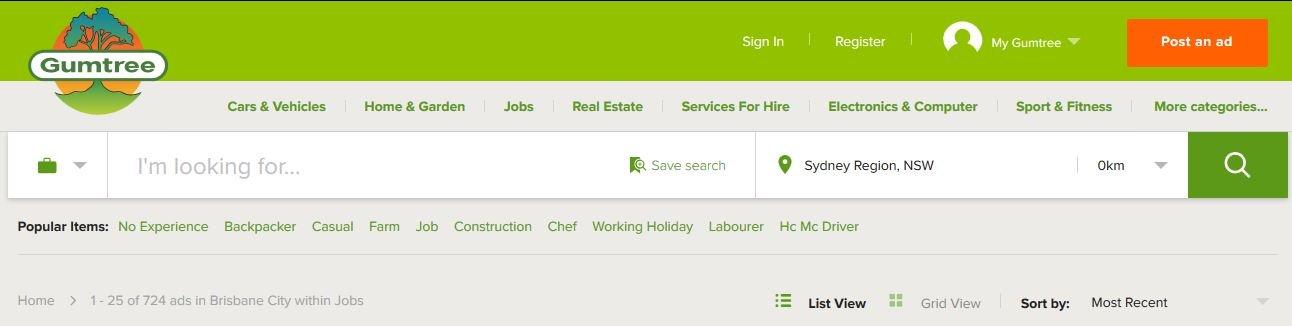 Gmtree Australia Job Search