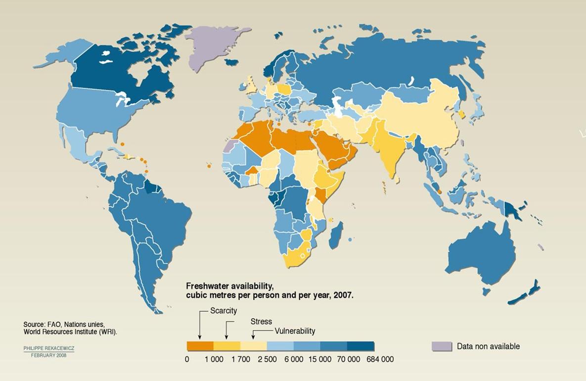 UN fresh water availability statistics